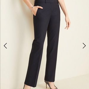 Ann Taylor Straight Trouser Pant - True Navy